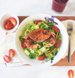 Thai Style Soft Shell Crab Salad