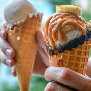Banana Ice Cream Cone
