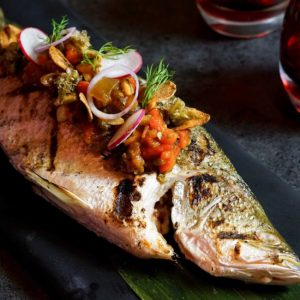 WHOLE BARRAMUNDI VERA CRUZ STYLE