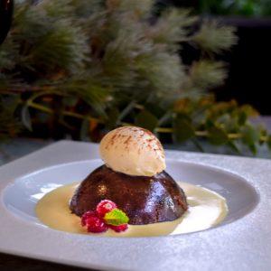 Homemade Christmas Pudding, Brandy Custard