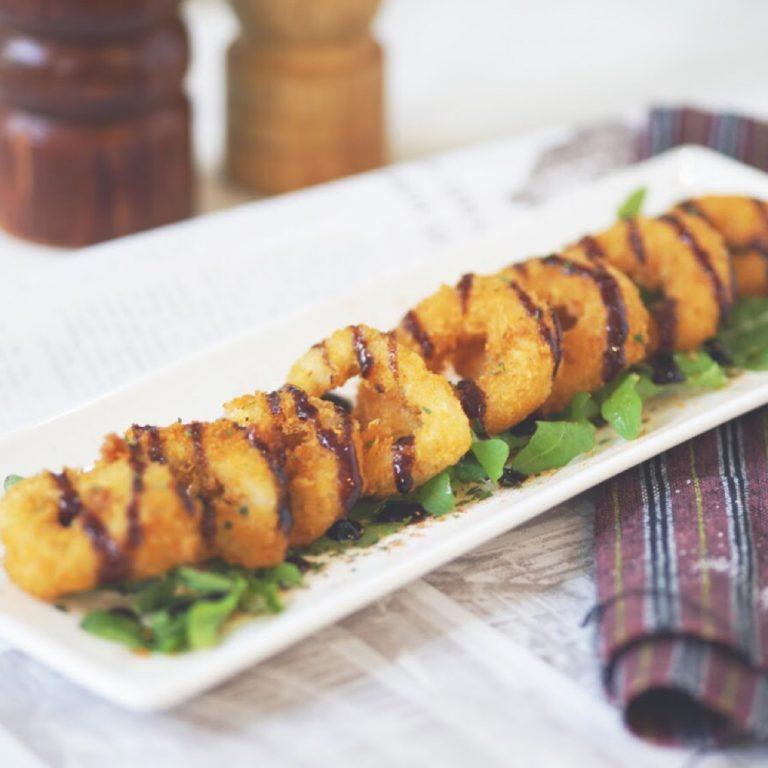 Fried Calamari Rings & Cheese Rings