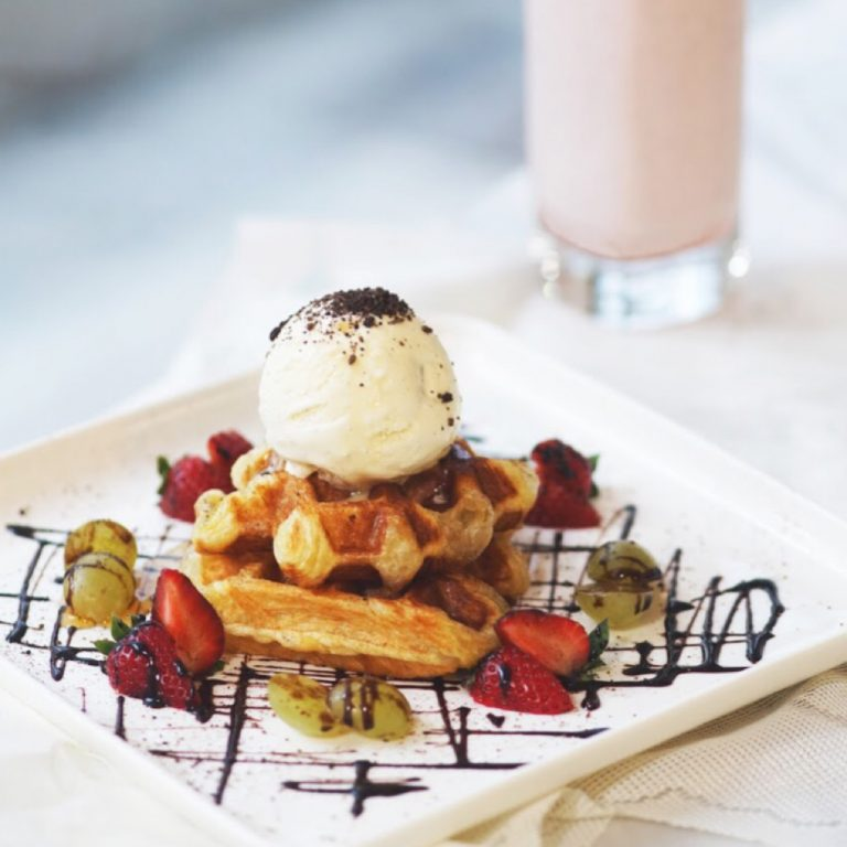 Chef's Special Waffle with Movenpick Ice Cream