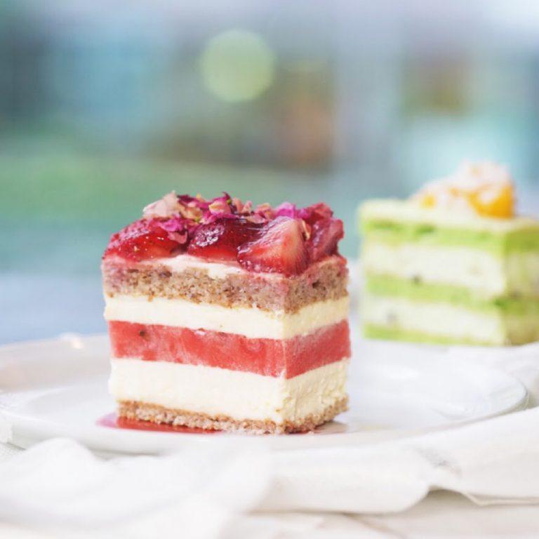 Watermelon Strawberry Cake
