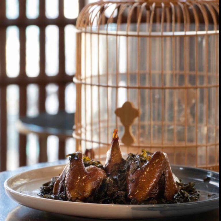 Longjing Tea Smoked Pigeon