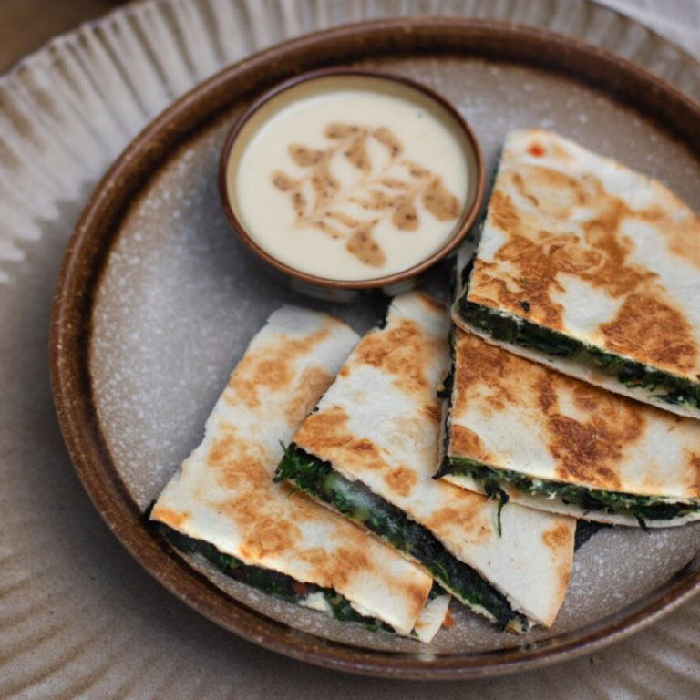 Spicy Spinach Quesadilla