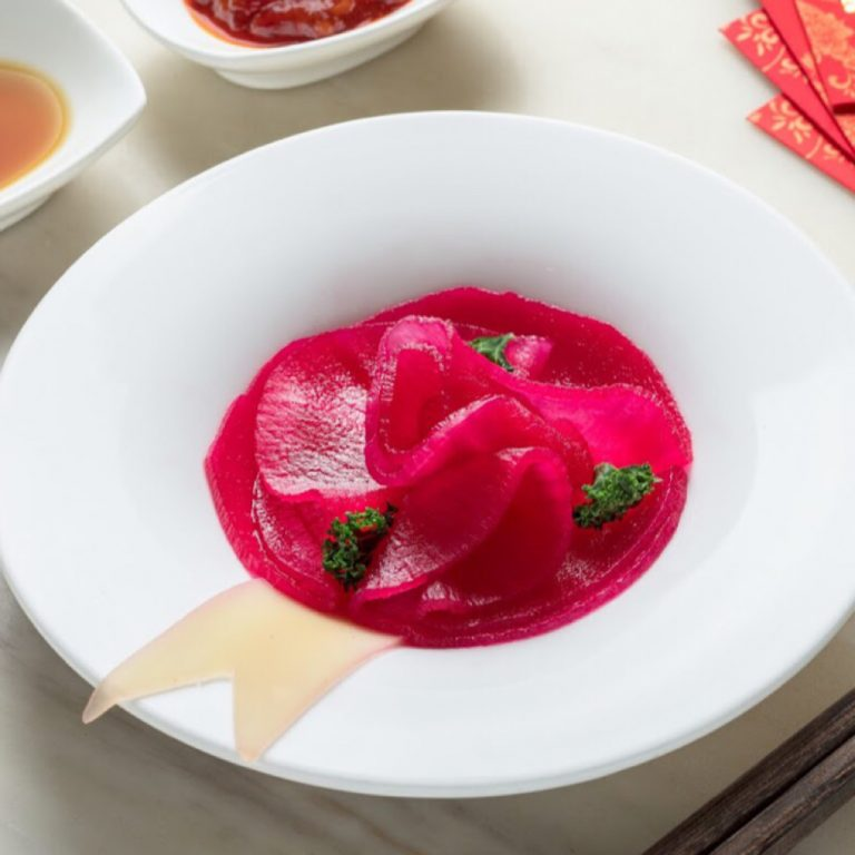 Radish with Beetroot Sauce