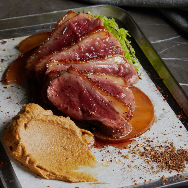 Glazed Cahors Duck Breast