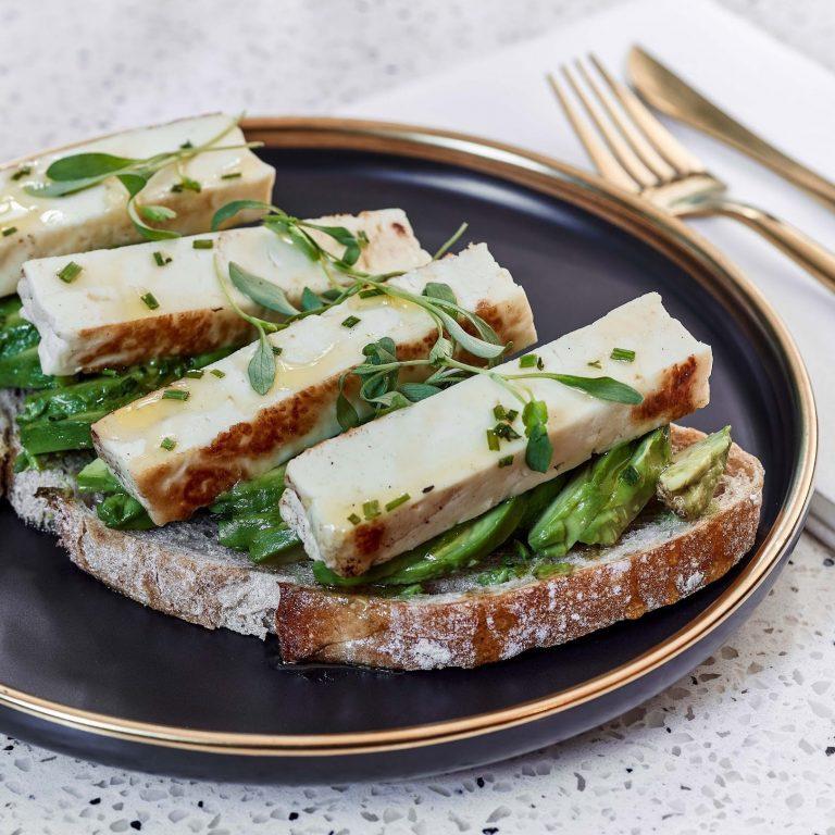 Avocado Toast w/ Halloumi