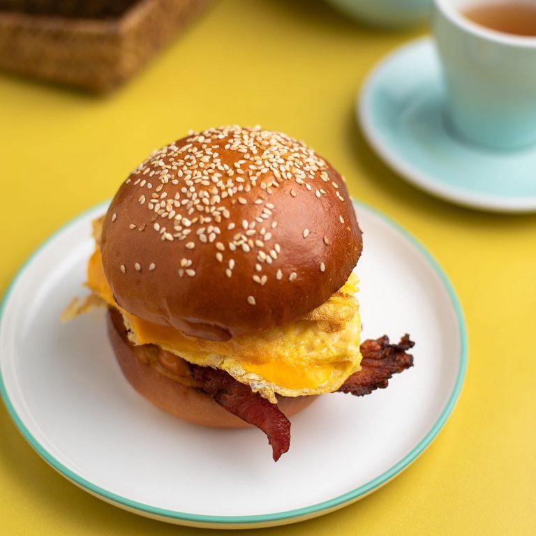 Egg, Cheese and Bacon Burger