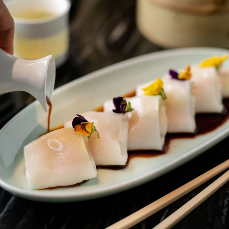 Prawn and Chive Rice Roll