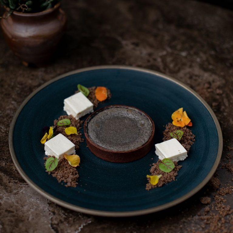Black Sesame Lava Tart