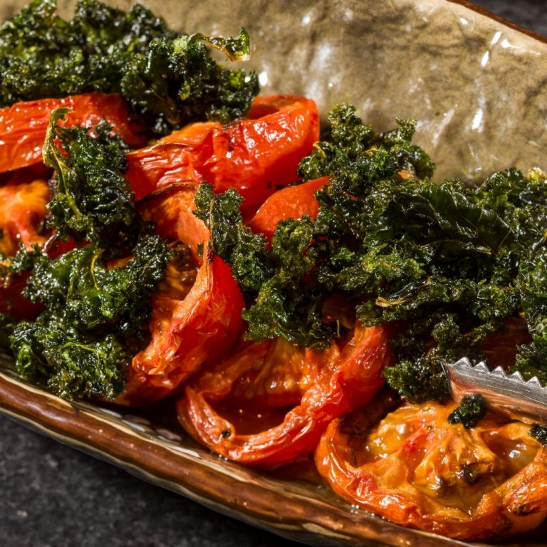 Semi buffet lunch - grilled tomato & crispy kale