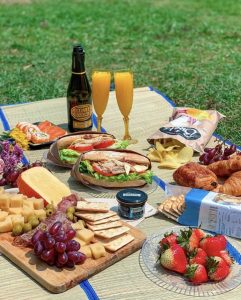 Kally's picnic shot at Cyberport